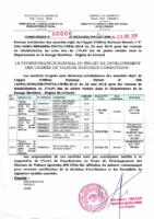 COMMUNIQUE N° 00006 AONO N° 006 attribution marchés lot de 174 84 region LT